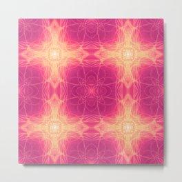 Golden Heart Pink Metal Print