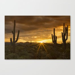 A Southwestern Sunrise Canvas Print