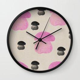 Mushroom pink Wall Clock