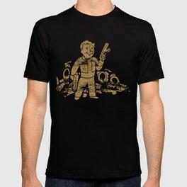 Fallout Vault Boy With Gun T-shirt