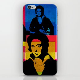 PERCY BYSSHE SHELLEY - ENGLISH POET, 4-UP POP ART COLLAGE iPhone Skin
