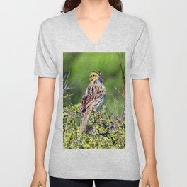 Savannah Sparrow Unisex V-Neck