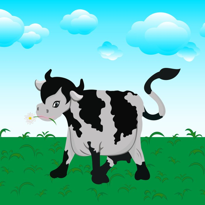 Cow on a meadow Duvet Cover