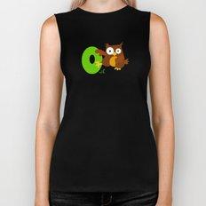 o for owl Biker Tank