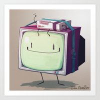 beemo Art Prints featuring Adventure Time BMO by RoboChandler