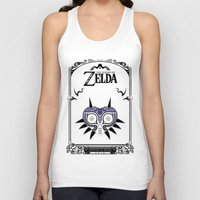 the legend of zelda Tank Tops featuring Zelda legend - Majora's mask by Art & Be