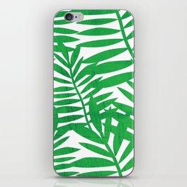 Tropical Leaf Print iPhone Skin