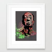 hitchcock Framed Art Prints featuring Hitchcock by Alina Balan