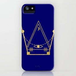 Sacred Geometry Letter W iPhone Case