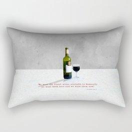 Glass of Wine Rectangular Pillow