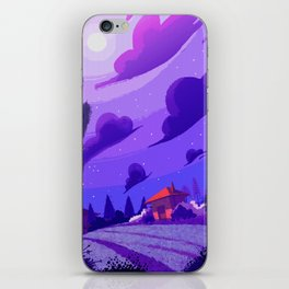 Campagne étoilée / Studed Countryside iPhone Skin