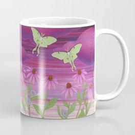 echinacea daydream with luna moths and snails Coffee Mug