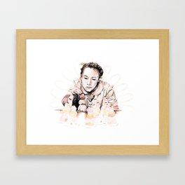 Courtesan au Chocolat Framed Art Print