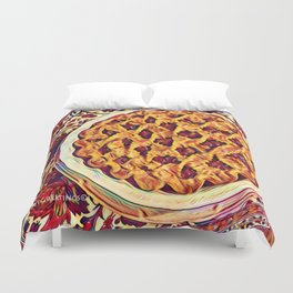 Coffee & Cherry Pie, Food For Thought Duvet Cover