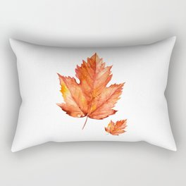 Autumn Maple Leaves Rectangular Pillow