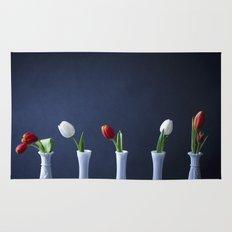 Tulips in Bud Vases Rug