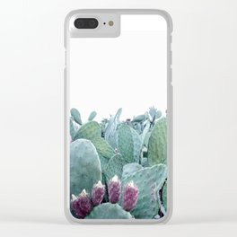 Mint Cactus Clear iPhone Case