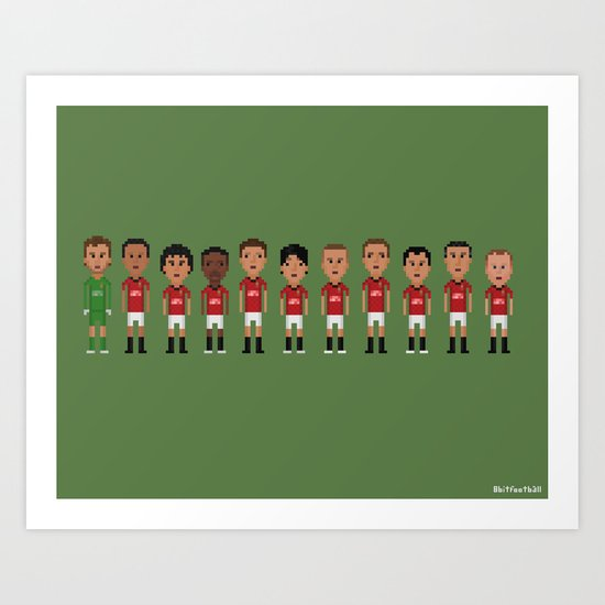 Manchester United 2013 Art Print