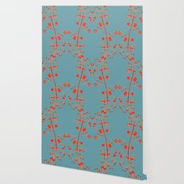 2941-Illawarra-Flame-Tree#1-Teal Wallpaper