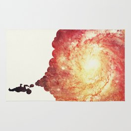The universe in a soap-bubble! (Awesome Space / Nebula / Galaxy Negative Space Artwork) Rug