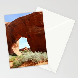 At The End Of The Trail - Pine Tree Arch Stationery Cards