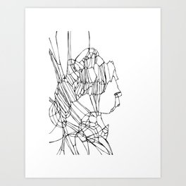 Delineated Guise Art Print