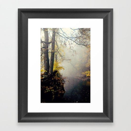 autumn mist Framed Art Print