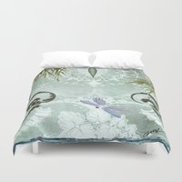 tiffany Duvet Covers featuring tiffany lake by Ariadne
