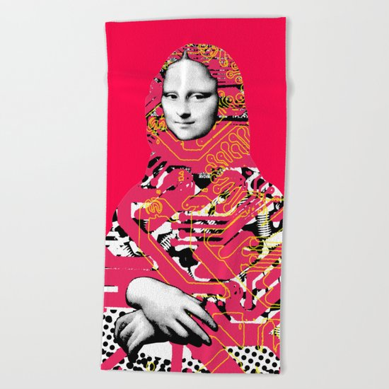 Mona Lisa Platina 5 Beach Towel