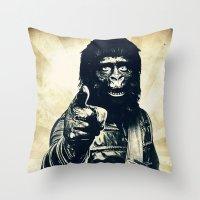ape Throw Pillows featuring Vintage Ape * Go Ape by Freak Shop | Freak Products