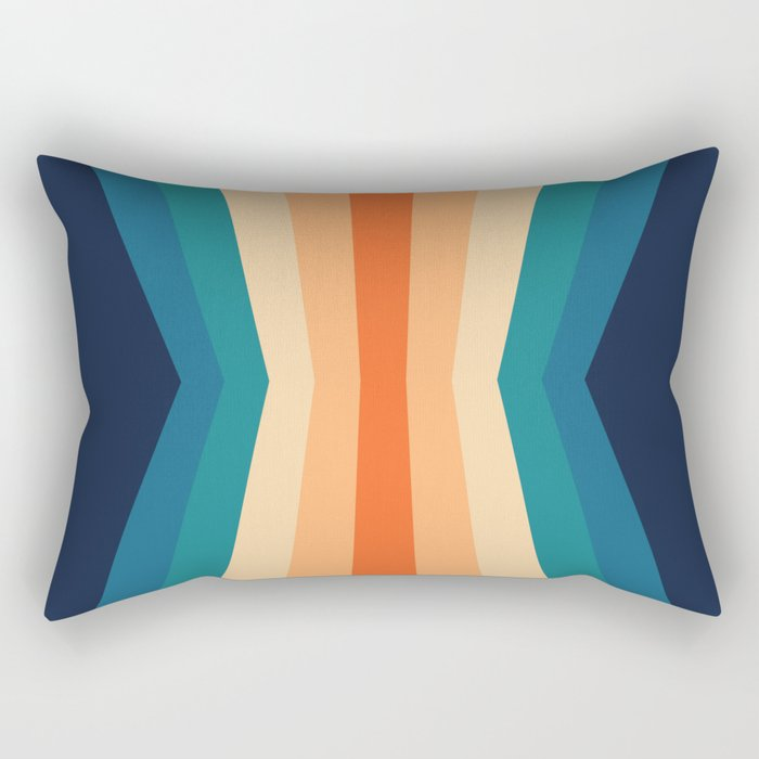 70's Retro Reflection Rectangular Pillow