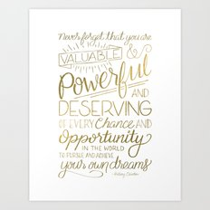 Pursue Your Dreams - Gold Art Print