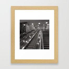 Underground station - stairs - Brandenburg Gate - Berlin Framed Art Print
