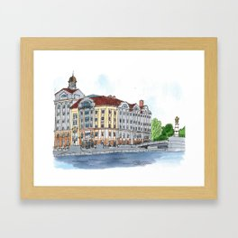 Business Center Fish Market, Kaliningrad, Russia Framed Art Print