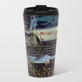 1959 Plymouth in the weeds. Travel Mug