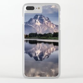 Mt. Moran and the Snake River Clear iPhone Case