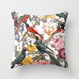 Floral and Birds XXXV Throw Pillow