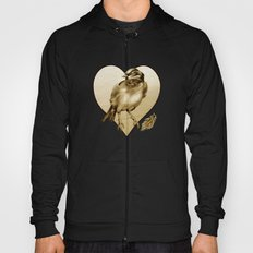 Sparrow With Feather Hoody