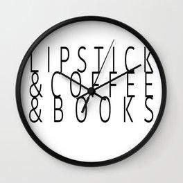 Lipstick& Wall Clock