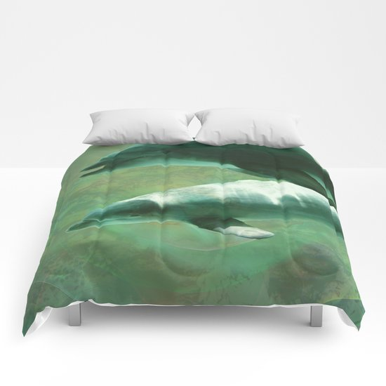 Two Dolphins Comforters