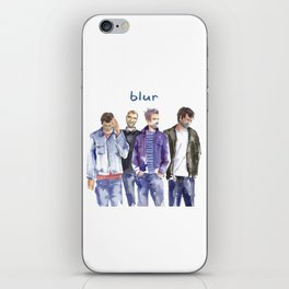 Watercolor painted music band Blur iPhone Skin