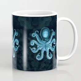 Octopus2 (Blue, Square) Coffee Mug