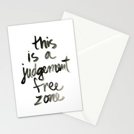 Judgement Free Zone Stationery Cards