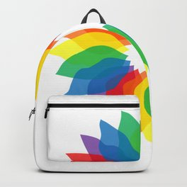 Rainbow Flower Backpack