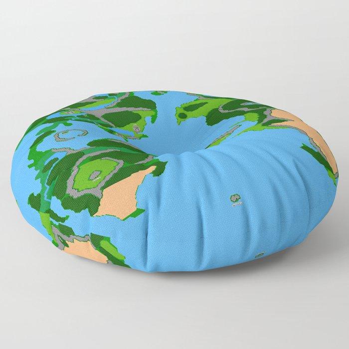 Final Fantasy II Japanese Overworld Floor Pillow