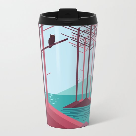 The guardian of the forest Metal Travel Mug