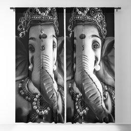 Ganesha Black and White Blackout Curtain