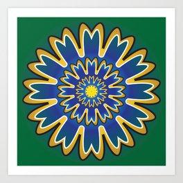 Development Mandala - מנדלה התפתחות Art Print