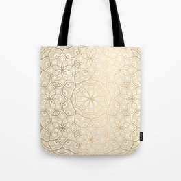 Golden Mandala Background Pattern Tote Bag
