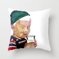 milk Throw Pillows featuring Milk by Alvaro Tapia Hidalgo